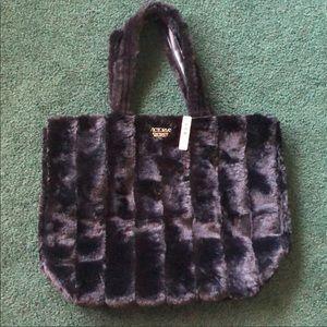 Brand new Fuzzy Victoria's Secret tote bag